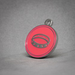 Medalla para Perro Collar rosa