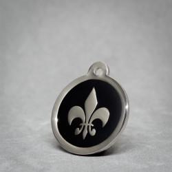 Medalla de Perro Flor de lis