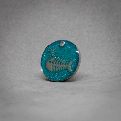 Medalla de Perro Espina Pez Azul