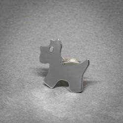 Medalla de Perro con Forma de Perro