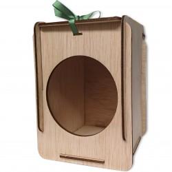 caja de madera círculo