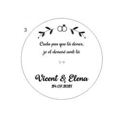 """Porta anillos personalizado  """"Vicent y Elena"""""""