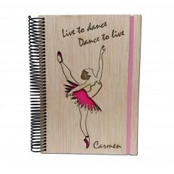 libreta de love dance madera