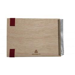 album de madera construyendo recuerdos de fotos