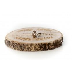 porta anillos de madera laurel