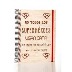 libreta de madera super heroes
