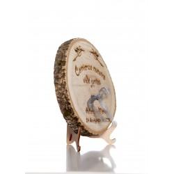 porta anillos la vida juntos de madera