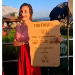 Cartel para boda photocall de madera