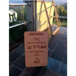 cartel madera photocall boda