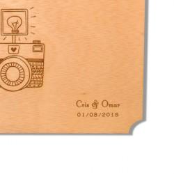 cartel madera photocall para boda