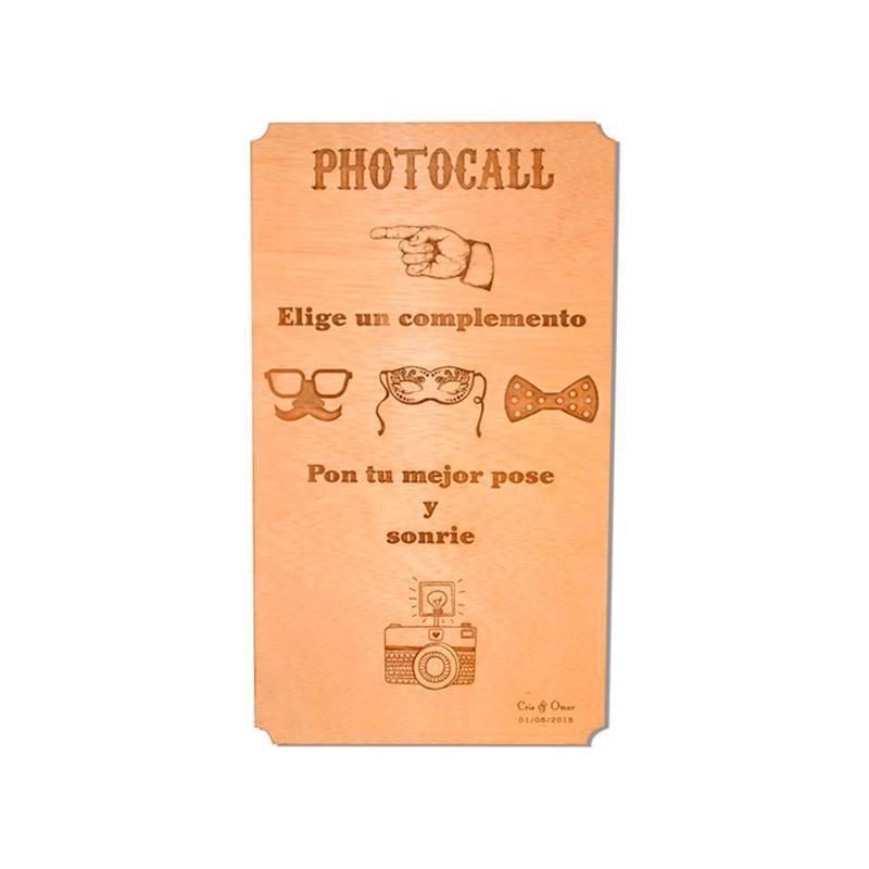 cartel de madera photocall para boda