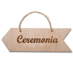 flecha ceremonia de madera para colgar