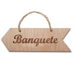 flecha de madera banquete para colgar