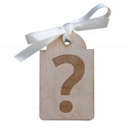 Etiqueta de madera para detalles de boda personalizada