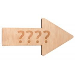 flecha de boda personalizable madera