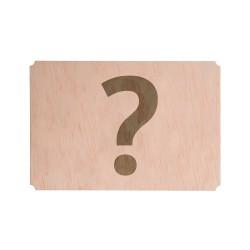 invitación personalizable de madera para boda