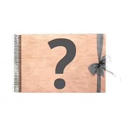 Libro de firmas de madera personalizable para boda