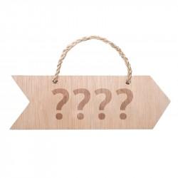 flecha madera para boda personalizable