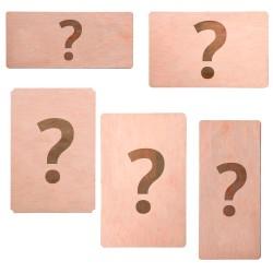 Invitación de boda de madera personalizable