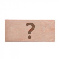 Invitación de boda personalizable de madera