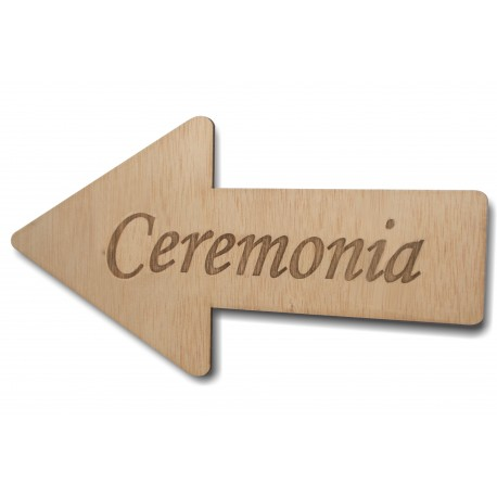 flecha de madera ceremonia para bodas