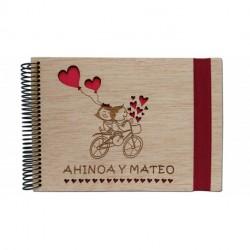 álbum de fotos de madera boda personalizado