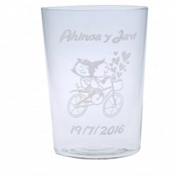 vaso de sidra para boda grabado personalizado