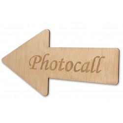 flecha de madera Photocall para boda