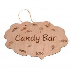 cartel de madera candy bar