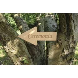 flecha de madera ceremonia bodas