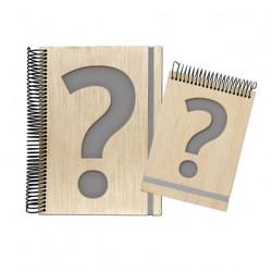 libreta de madera personalizable
