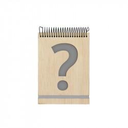 libreta personalizable madera