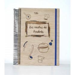 Libreta de madera Grandes Recetas