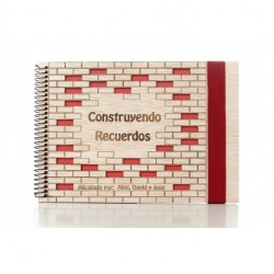 album de fotos de madera personalizado para comuniones