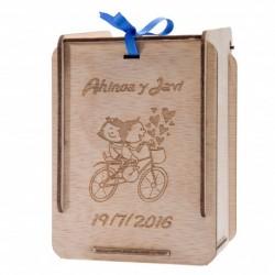 caja de madera personalizada para detalles de bautizo
