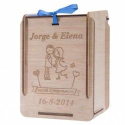 caja personalizada de madera para detalles de bautizo