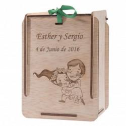 caja madera para detalles bautizo personalizada